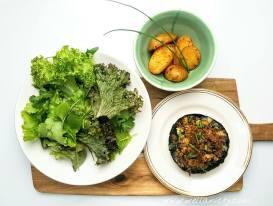 Blue-cheese-stuffed-mushrooms-potatoes-salad